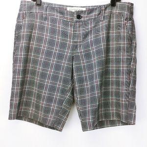 Fox Girls Gray Plaid Shorts